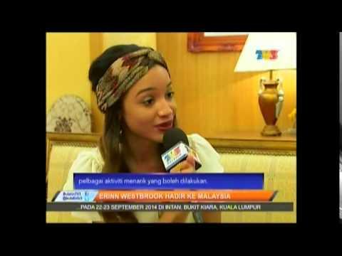 Erinn Westbrook in Malaysia on Buletin Utama , TV3.