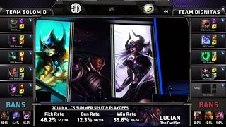 TSM vs Dignitas Game 2 | Quarter Finals NA LCS Summer 2014 Playoffs | TSM vs DIG S4 Worlds Regionals