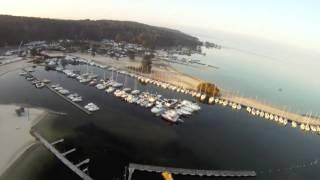 Vol au dessus du lac de biscarrosse à port Maguide, l