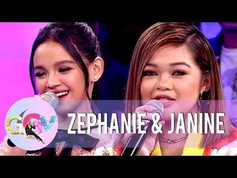 Zephanie and Janine reminisce their 'Tawag Ng Tanghalan' days  | GGV