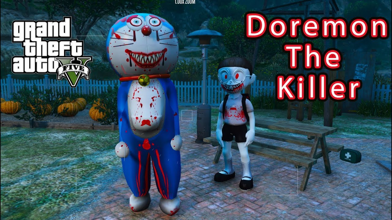 GTA 5 Mod – Doremon The Killer Tìm Gặp Nobita The Killer #2