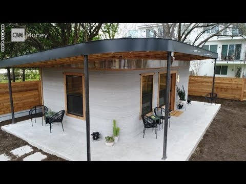 منزل مبني بالكامل بطابعة ثلاثية الأبعاد