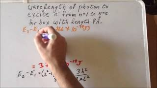 Particle in a 1D box transitions problem