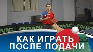 ТАКТИКА ИГРЫ ПОСЛЕ ПОДАЧИ (ПОДАЧА в настольном теннисе)