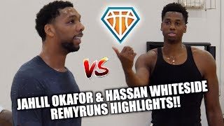 Hassan Whiteside vs Jahlil Okafor  RemyWorkouts Open Run Highlights