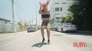 Pro Dancer on Her Period! Ruby Love Period Boyshorts