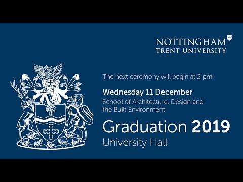 NTU Graduation Dec 2019 - Ceremony 10: Architecture, Design and the Built Environment 2 pm