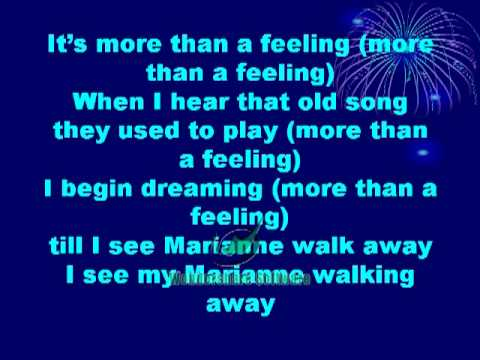 Boston More than a Feeling Lyrics