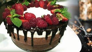 "Торт ""Три шоколада"": рецепт и 2 варианта украшения"