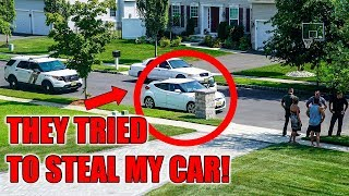 MY CAR WAS ALMOST STOLEN! *SECURITY CAMERA FOOTAGE*