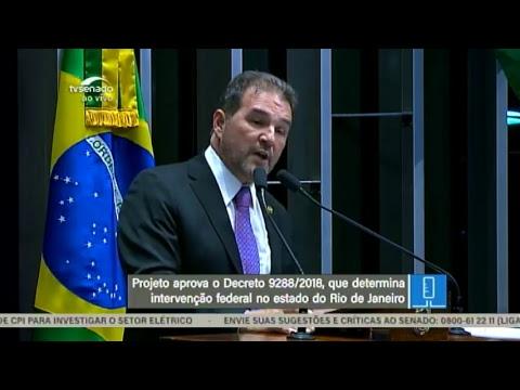 Sessão Deliberativa Extraordinária - TV Senado ao vivo - 20/02/2018