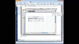 Making Contingency (Crosstab) (Pivot) Table in Mac Excel 2004 2008 2011