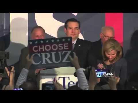 Ted Cruz's Iowa Caucus Victory Speech FULL