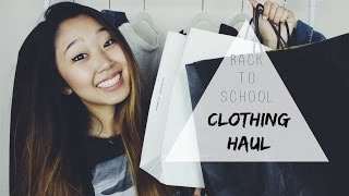 BACK TO SCHOOL CLOTHING HAUL 2015   Brandy Melville, LucLuc, Topshop, & More!