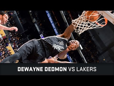Dewayne Dedmon Highlights: 11 PTS, 3 AST, 1 STL, 4 Dunks vs Lakers (26.02.2017)