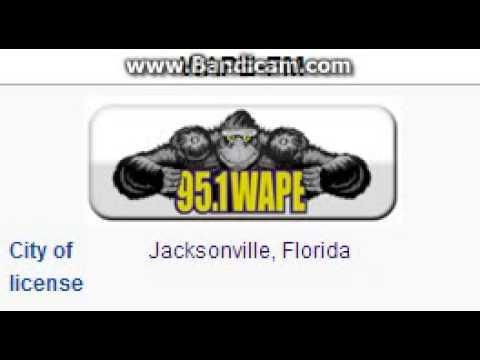 WAPE-FM 95.1 WAPE Jacksonville, FL TOTH ID at 7:00 p.m. 7/26/2014