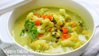 Quick And Easy Coconut Vegetable Curry Soup