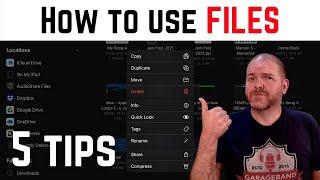 iOS FILES app   iPad/iPhone (5 tips)