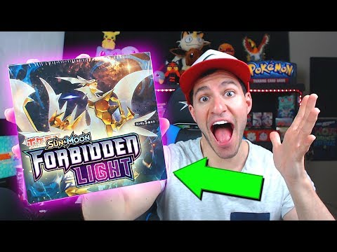 OPENING FORBIDDEN LIGHT BOOSTER BOX WITH NEW POKEMON CARDS!