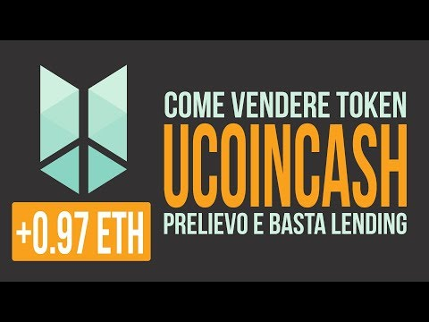 Rictoken - Ucoin Cash - Sell - Vendere token post ICO and no more lending