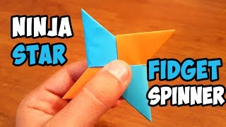 DIY Paper Ninja Fidget Spinner | Easy Ninja Star Spinner Tutorial