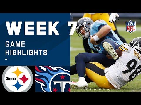 Steelers vs. Titans Week 7 Highlights | NFL 2020