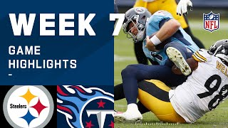 Steelers vs. Titans Week 7 Highlights | NFL 2020
