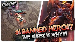 #1 BANNED HERO!? Vainglory 5v5 [Ranked] Gameplay - Reza |CP| Jungle Gameplay