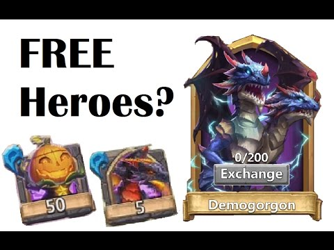 How To Get FREE PUMPKIN DUKE Demogorgon Part! Hero Exchange Soulstones Castle Clash Crazy Win