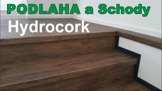 Obložení schodů a podlahy z Hydrocorku Wicanders