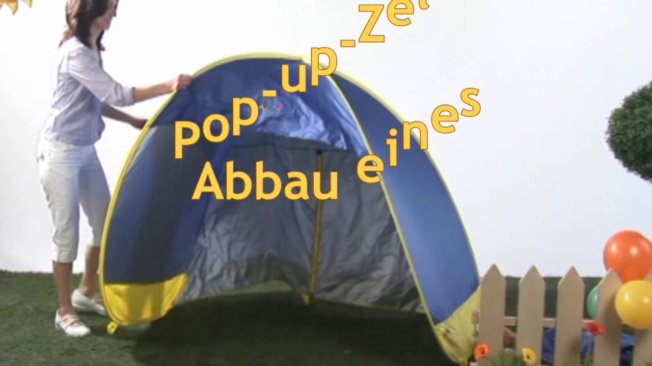pop up zelt abbauen