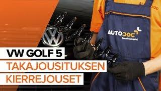 Moottorin tukikumit vaihto VW GOLF V Variant (1K5) - vaihe vaiheelta videokäsikirjat