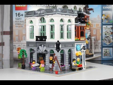 Lego Creator 2016 Set 10251 Brick Bank Unboxing Review Deutsch