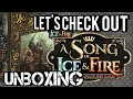 (Game of Thrones) A song of Ice and Fire tabletop miniature game starter set: Unboxing