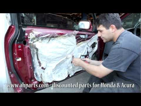 How to install replace front power window regulator hon for 1997 honda crv window regulator