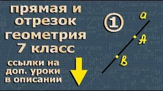 ПРЯМАЯ и ОТРЕЗОК - 7 класс - видеоурок