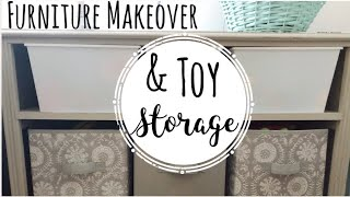 Furniture Makeover | Toy Storage Ideas | Eco-friendly Chalk Paint