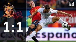 Ricardo Rodriguez trifft gegen La Roja: Spanien - Schweiz 1:1 | Highlights | Länderspiele | DAZN