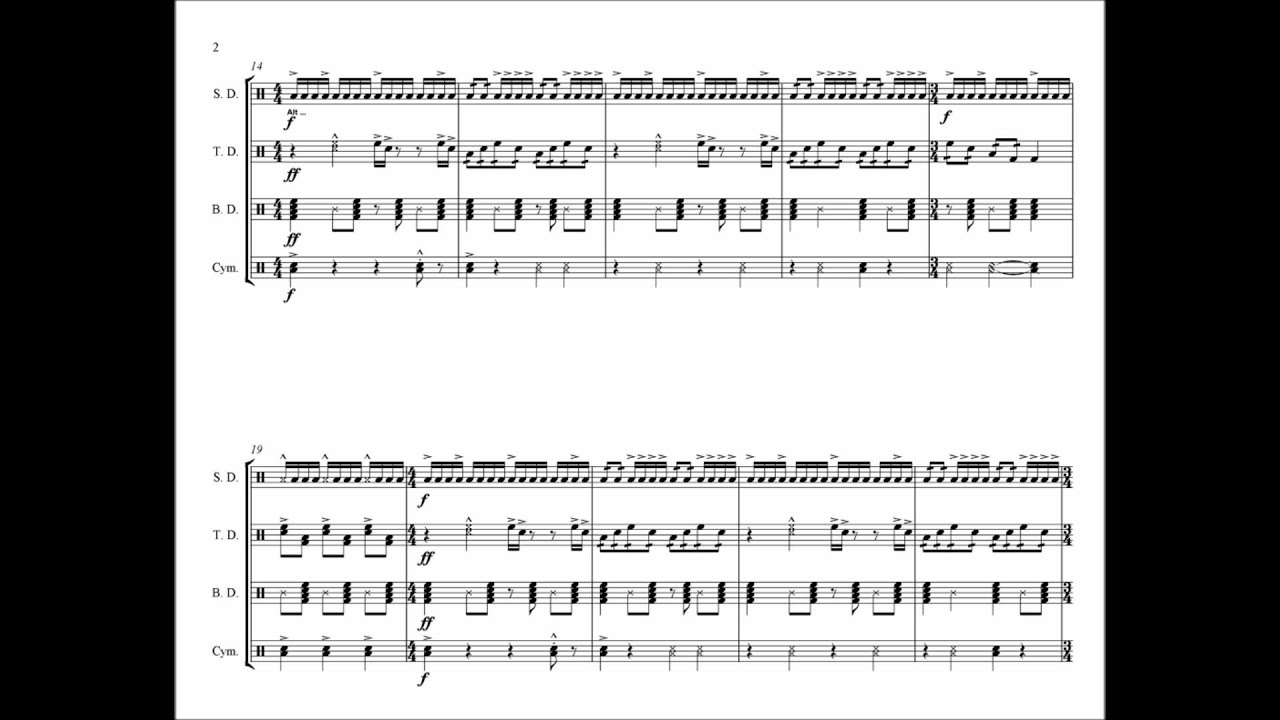 Hey Ya Drumline Cadence Youtube