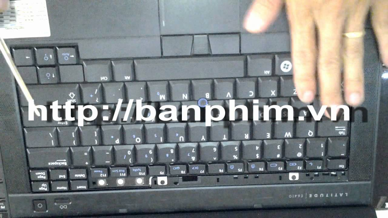 Thay bàn phim laptop Dell Latitude E6410 E6400 keyboard replacement