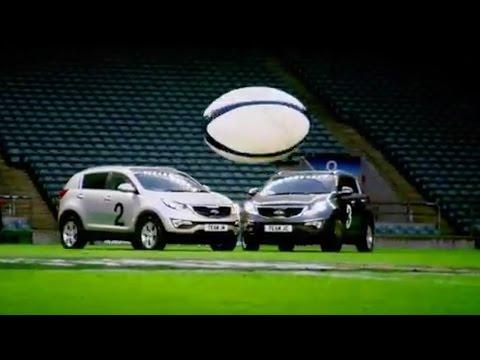 Car Rugby At Twickenham (First Half) - Top Gear - The Stig  - BBC