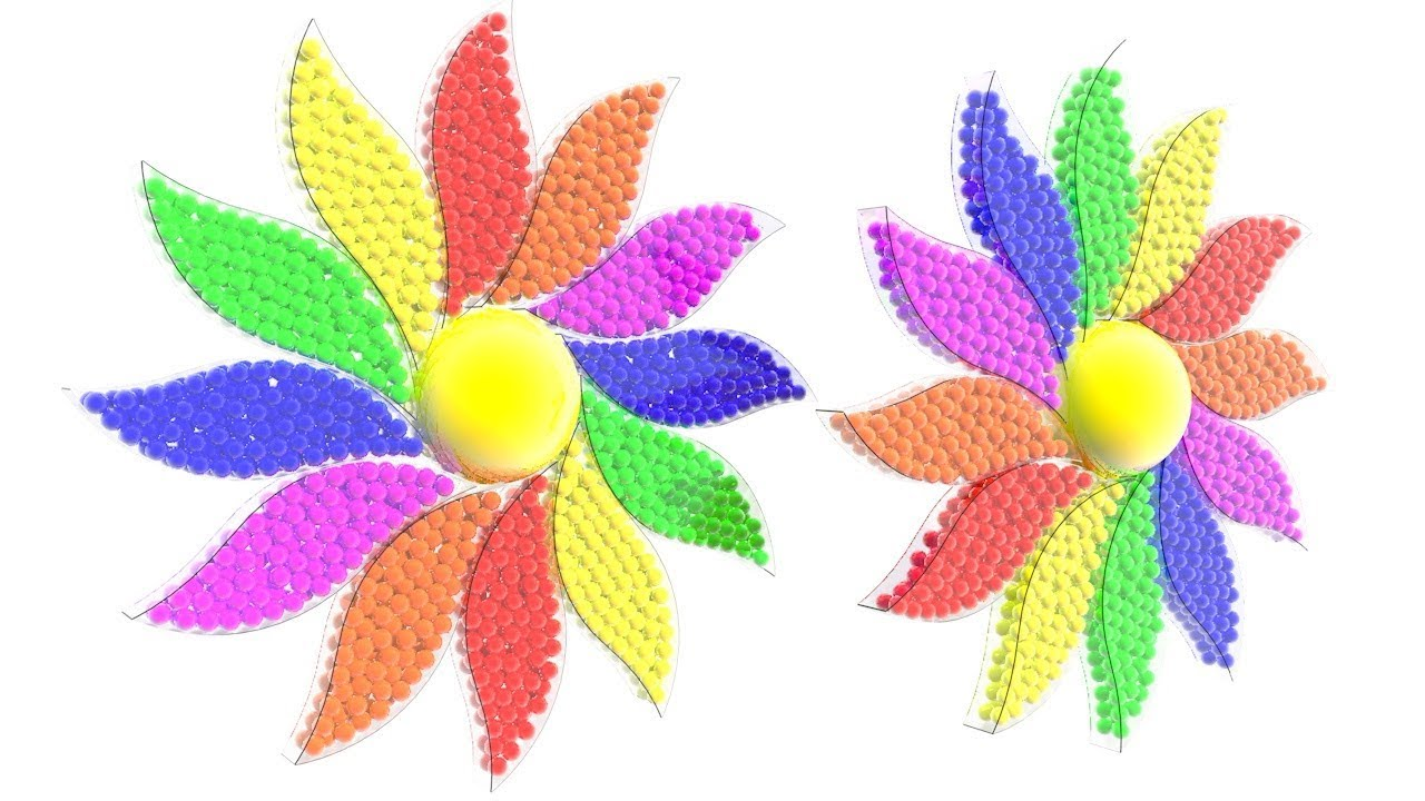 Learning Colors With 12 Leaf Flower For Kids
