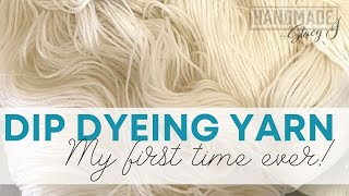 Dip Dyeing Yarn in Koolaid - My First Attempt!