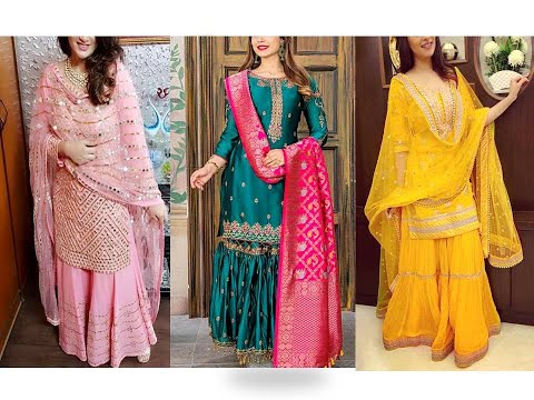 Latest Sharara Suit Designs// Pakistani Suit Designs//Indian Wedding Dresses// Fashion Essence
