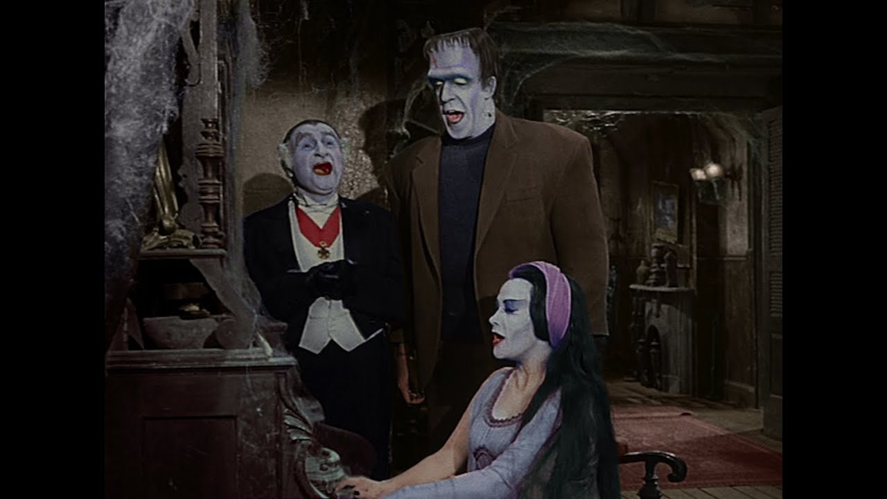 the munsters family singing time in color pop colorturecom - Munsters Halloween Episode