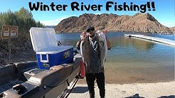Winter River Fishing! Willow Beach launch!