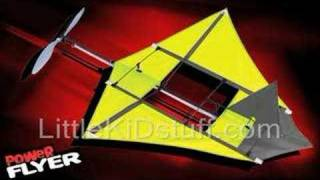 X2 Power Flyer Rubber Band Powered Airplane Kite Flying