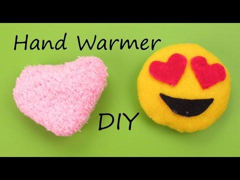 DIY: Hand Warmer Emoji/Heart Plush How to Tutorial Holiday/Christmas Gift Idea