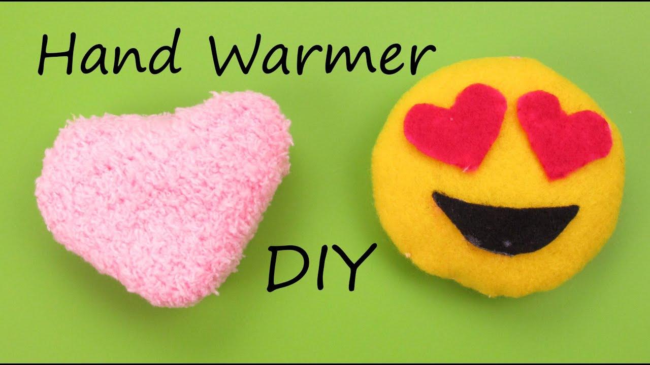 DIY Hand Warmer EmojiHeart Plush How To Tutorial Holiday - Diy bun warmer
