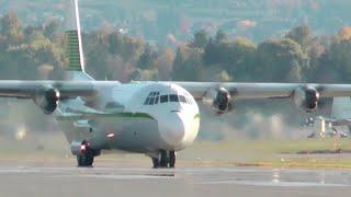 Lockheed L-100 Hercules (C-130) Takeoff from Kelowna CYLW